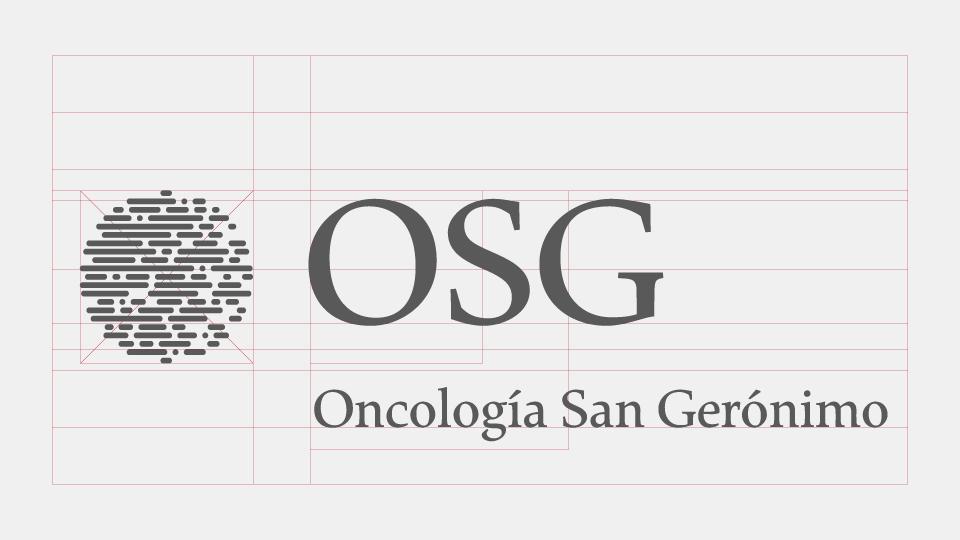 Signos visuales de la marca OSG (esquema de armado).