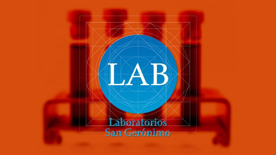 Prototipo de base para un logotipo de la marca LAB · Laboratorios San Gerónimo.