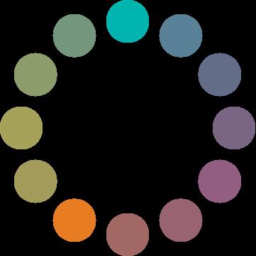 Círculo cromático: esquema de choque DEO.