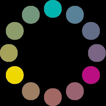 Círculo cromático: esquema de tríada DEO.