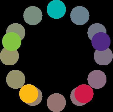 Círculo cromático: esquema de pentagrama DEO.